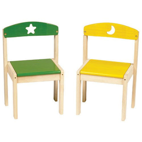 Guidecraft Moon and Stars Extra Kid's Chairs