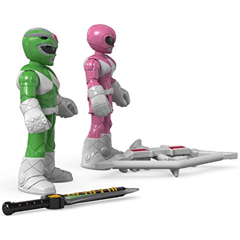 Image of Fisher-Price Imaginext Power Rangers Green Ranger & Pink Ranger