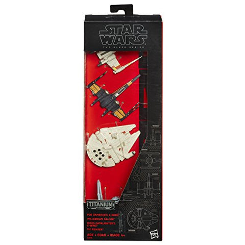 Image of Star Wars The Black Series Titanium Series Vehicles Multi Pack