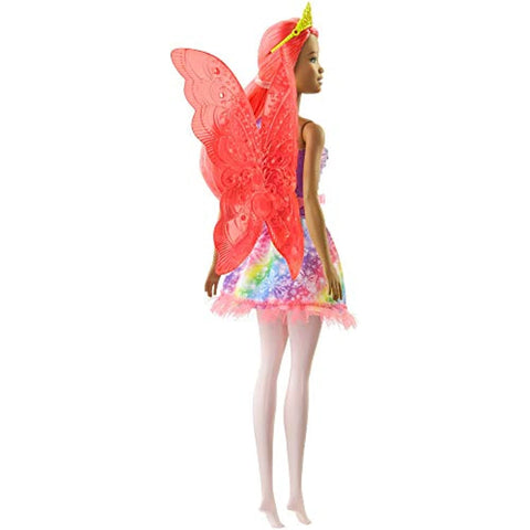Image of Barbie Dreamtopia Fairy Doll, 12-inch, with Pink Hair, Light Pink Legs & Wings, Gift for 3 to 7 Year Olds, Multi