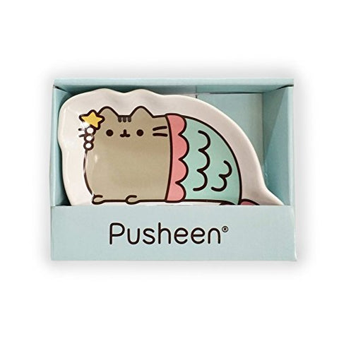 Enesco Pusheen by Our Name is Mud Mermaid Stoneware Trinket Tray, Multicolor
