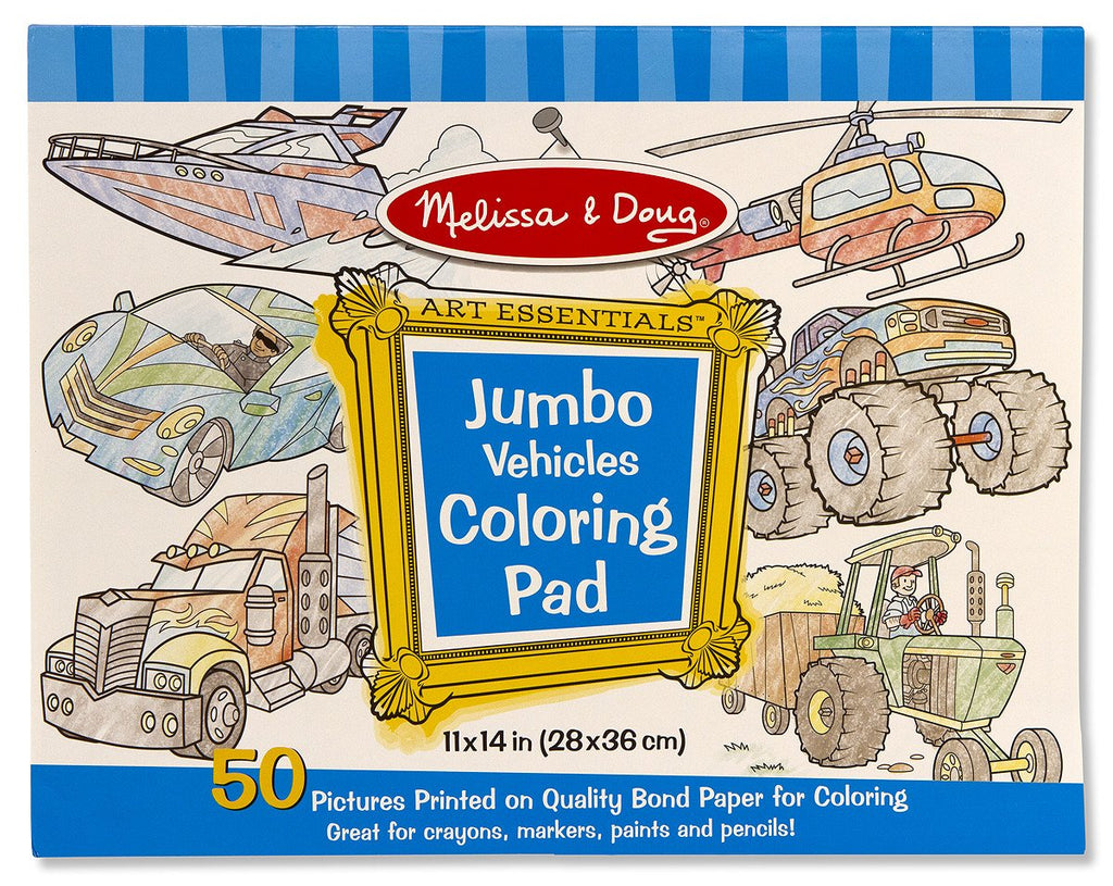 Melissa Doug Jumbo Coloring Pad - Vehicles 4205