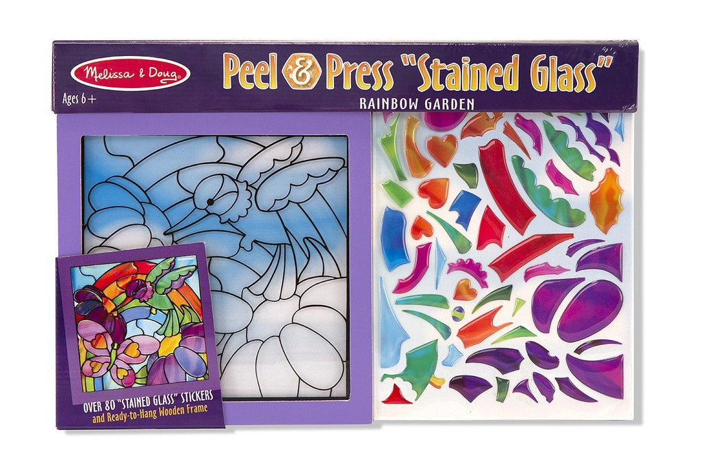 Melissa Doug Rainbow Garden See-Through Window Art 4264