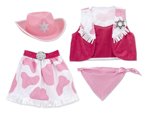 Image of Melissa Doug Cowgirl Role Play Costume Set 4272