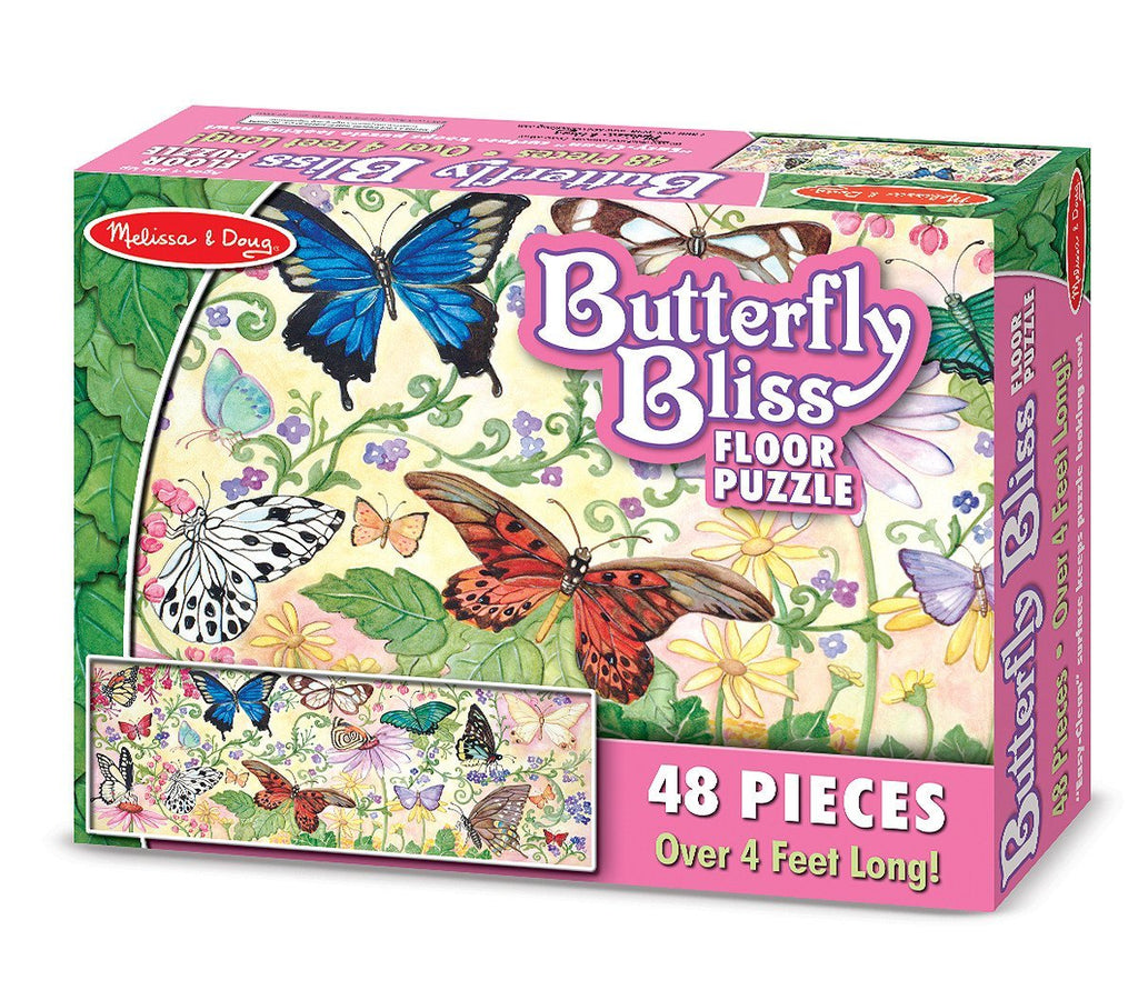 Melissa Doug Butterfly Bliss Floor Puzzle (48 pc)