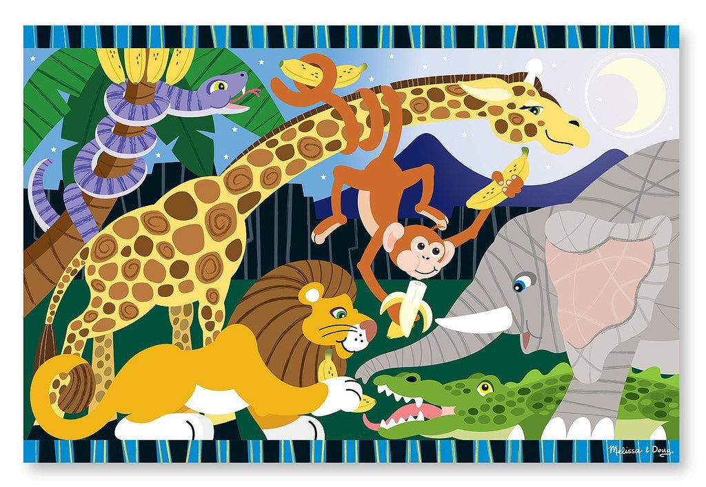 Melissa Doug Safari Social Floor Puzzle (24 pc)