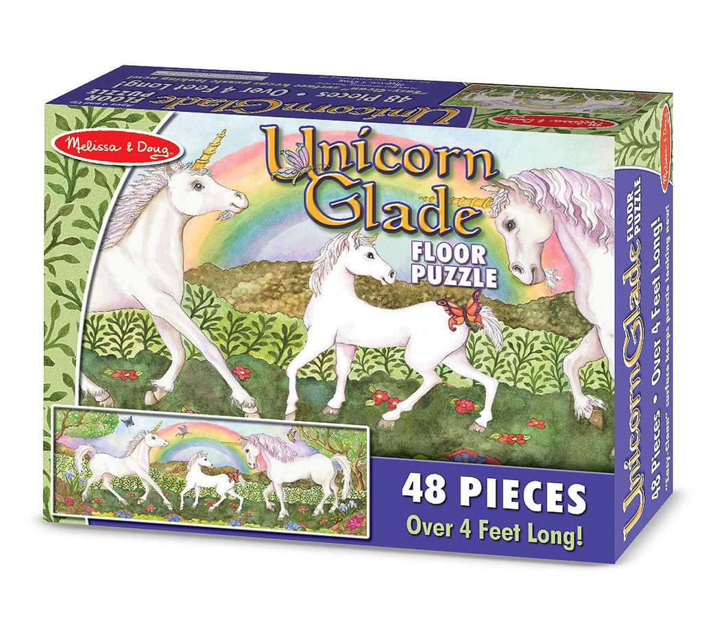Melissa Doug Unicorn Glade Floor Puzzle (48 pc)