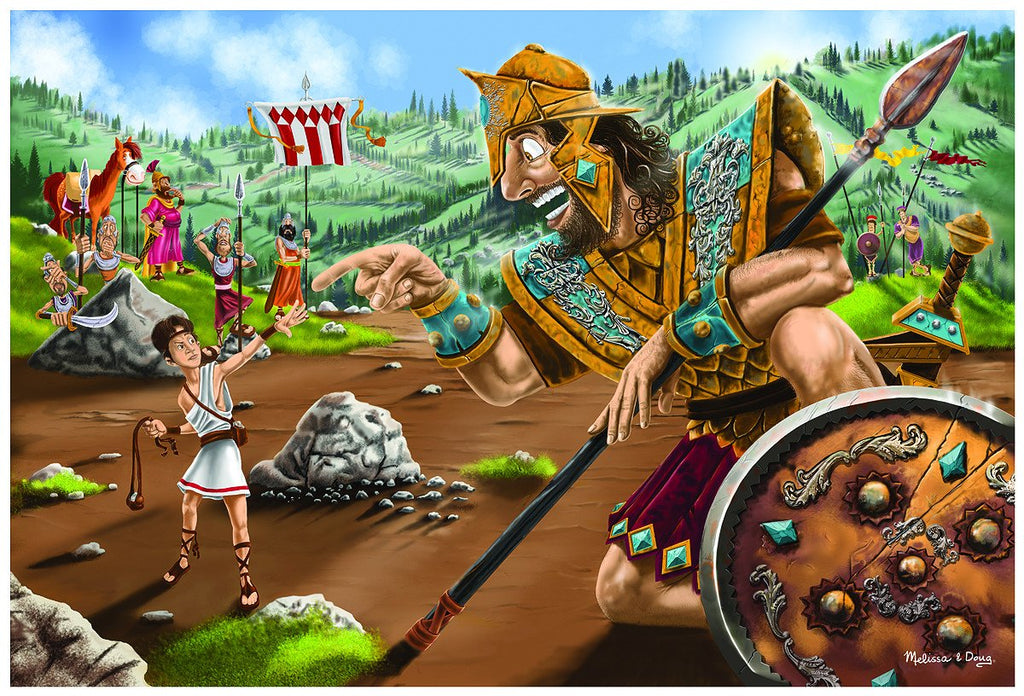 Melissa Doug David & Goliath Floor Puzzle 4494