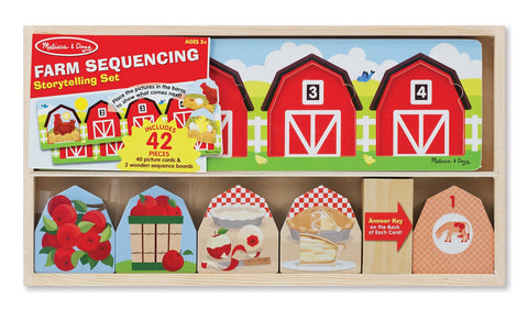 Image of Melissa Doug Farm Sequencing Storytelling Set 4775