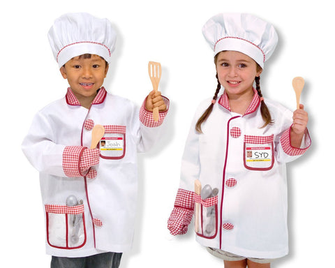 Image of Melissa Doug Chef Role Play Costume Set 4838