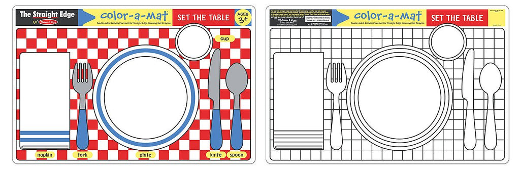 Melissa Doug Set the Table Color-A-Mat (Bundle of 6) 5025