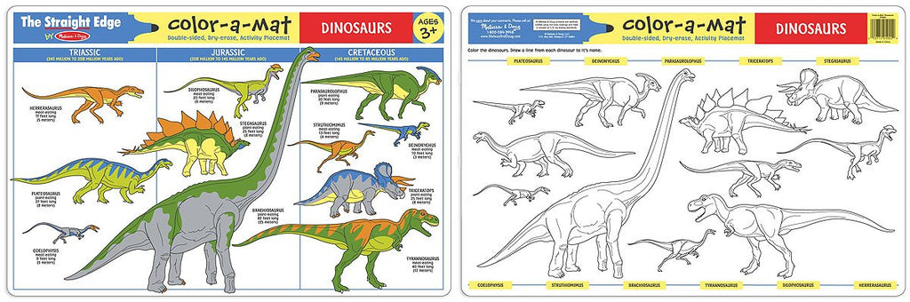 Melissa Doug Dinosaurs Color-A-Mat (Bundle of 6) 5027