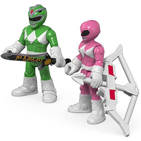Fisher-Price Imaginext Power Rangers Green Ranger & Pink Ranger