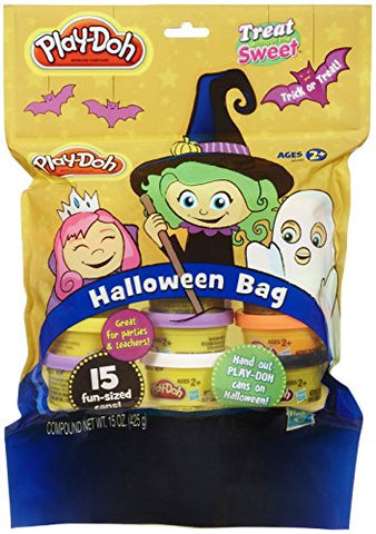 Image of Play-Doh, Treat-Without-the-Sweet, Halloween Bag, 15 1-ounce Cans