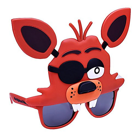 Sun-Staches Costume Sunglasses Five Nights Freddy Foxy Fox Party Favors UV400