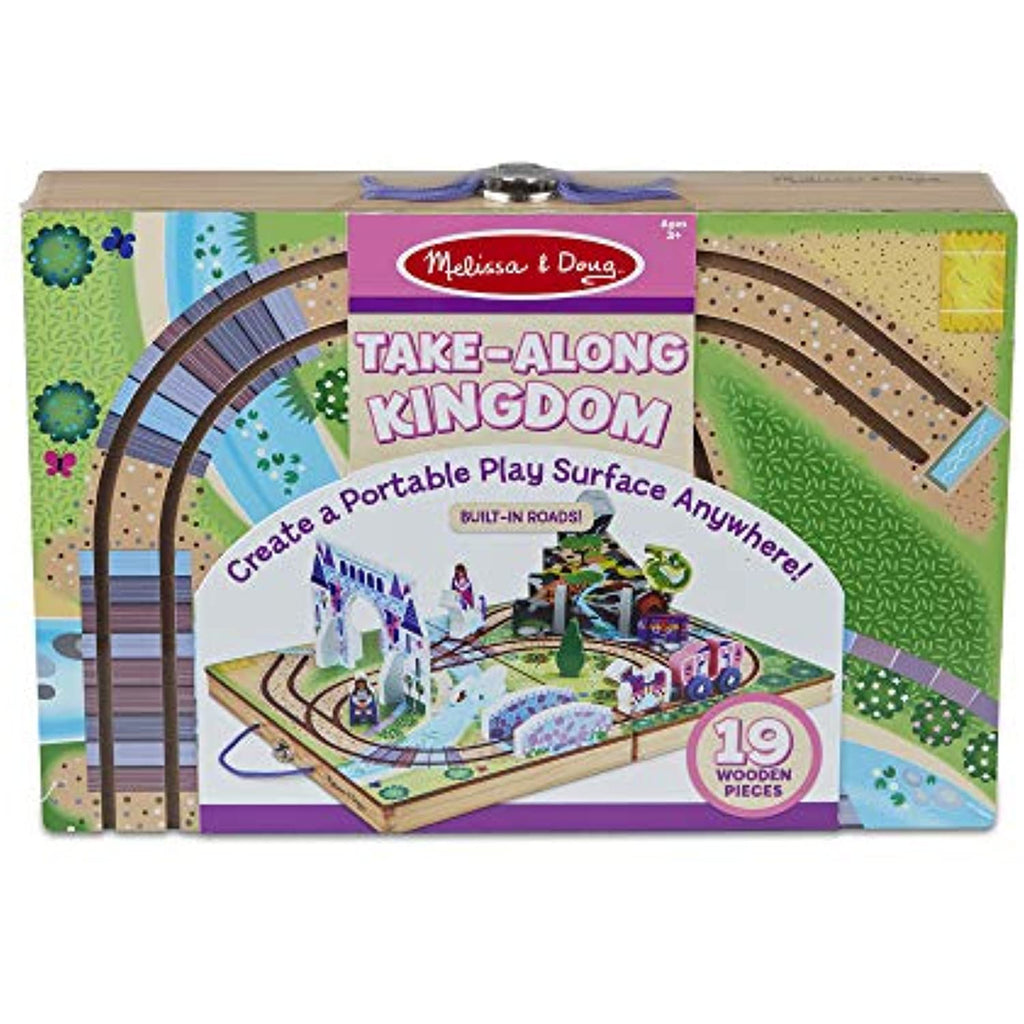 Melissa & Doug Wooden Take-Along Tabletop Kingdom