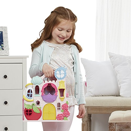 Disney Princess Little Kingdom Play n Carry Castle - Triple Functions as Magical Playset, Carrier, and Storage - Includes Carrying Case, Cinderella Doll, and Accessories