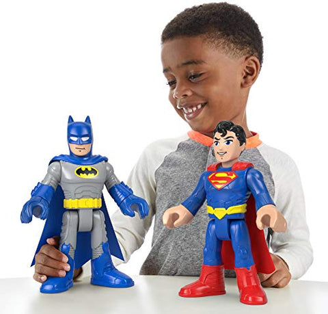 Image of Fisher-Price Imaginext DC Super Friends XL Batman & Superman 2-Pack