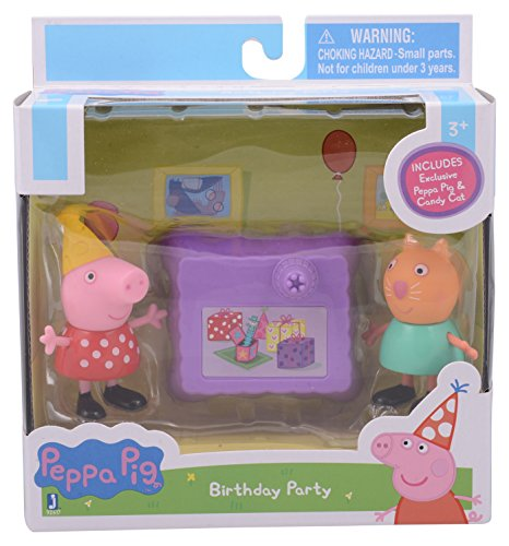 "Peppa Pig 92615 3"" 2Pack Assortment( 292626 and George Drawing, 2 92627 and Suzy BBQ, 292629 and Candy Picnic) Toy Figure"