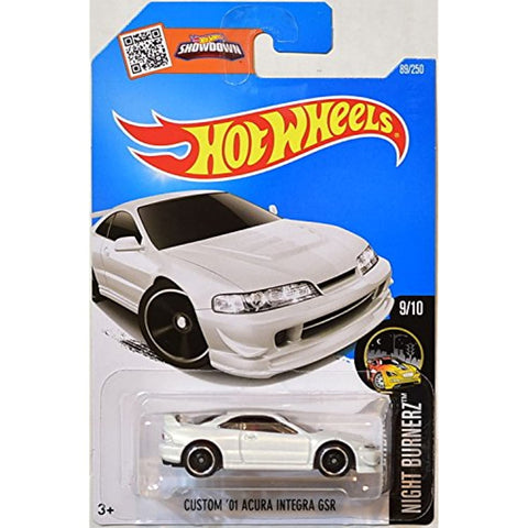 Hot Wheels 2016 Nightburnerz Custom '01 Acura Integra GSR 89/250, White