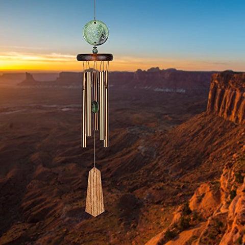 Image of Woodstock Turquoise Wind Chime, Terra