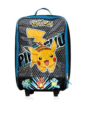 Image of Pokemon Pikachu 16 Inch Pilot Case Wheel, Blue/Yellow