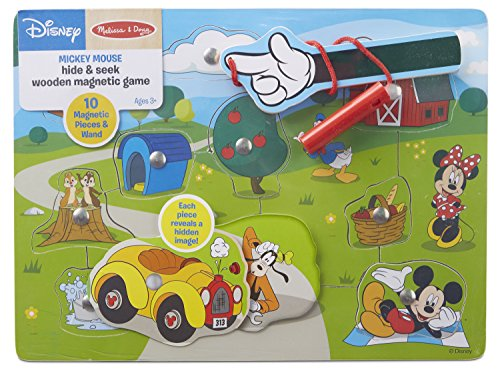 Melissa & Doug Disney Mickey Mouse Hide and Seek Wooden Magnetic Game