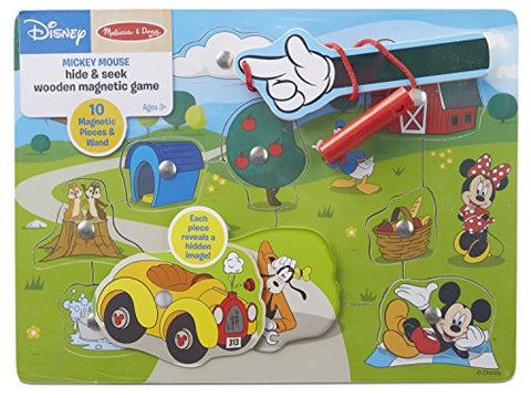 Image of Melissa & Doug Disney Mickey Mouse Hide and Seek Wooden Magnetic Game