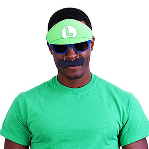 Costume Sunglasses Nintendo Luigi Mustache Sun-Staches Party Favors UV400