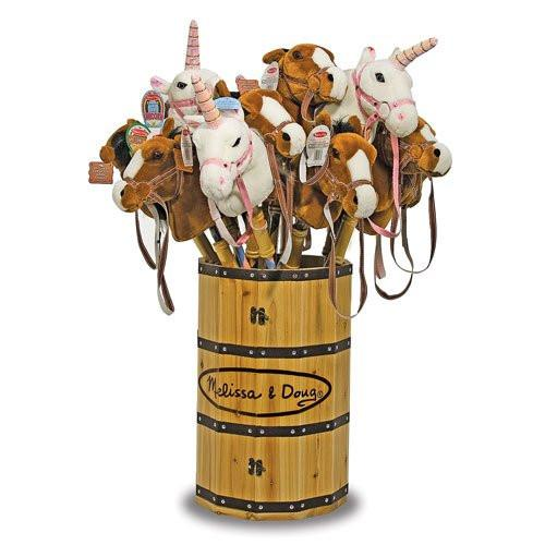 Melissa Doug Solid Wood Barrel Display