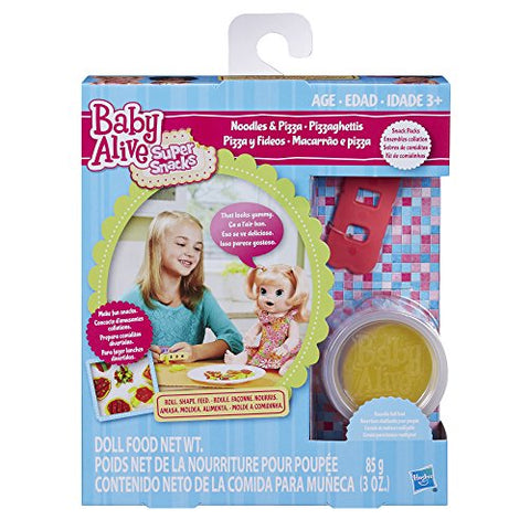 Image of Baby Alive Super Snacks Noodles & Pizza Snack Pack (Blonde) Baby Doll