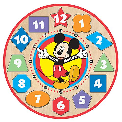 Image of Melissa & Doug Disney Mickey Mouse Wooden Shape Sorting Clock