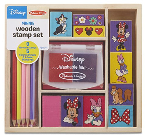 Image of Melissa & Doug Minnie Wooden Stamp Set