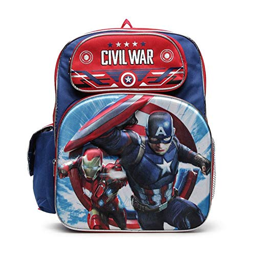 Marvel Captain America Civil War 3D Backpack 16""