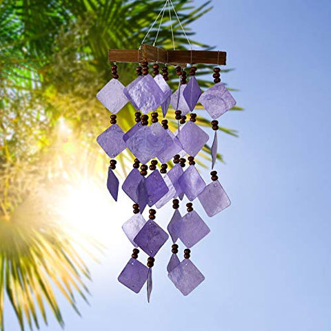 Image of Woodstock Chimes CDCU The Original Guaranteed Musically Tuned Chime Asli Arts Collection, Diamond Capiz - Purple