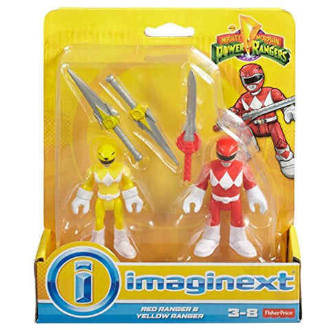 Image of Fisher-Price Imaginext Power Rangers Red Ranger & Yellow Ranger