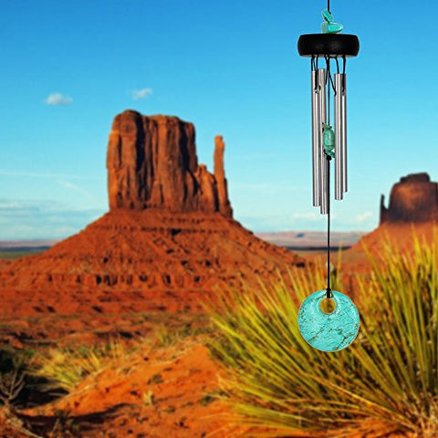 Image of Woodstock Chimes PST The Original Guaranteed Musically Tuned Chime, 12-Inch, Precious Stones-Turquoise