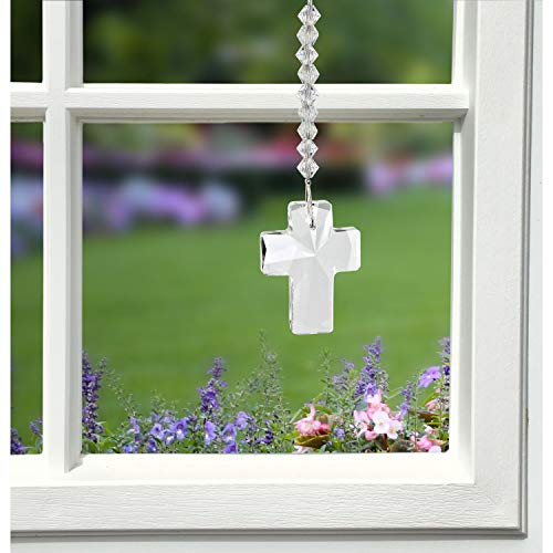 Woodstock Chimes DDCRD Rainbow Makers Crystal Suncatcher, Cross - Radiance