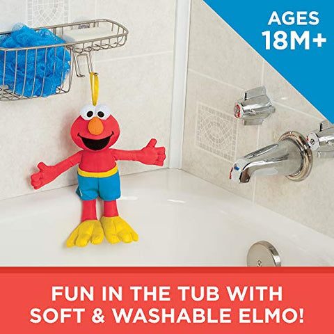 Image of Sesame Street Bath Time Elmo: Elmo Bath Time Toy for Toddlers, Cute Swim Trunks Outfit, Soft and Washable, Toy for 18 Month Olds and Up