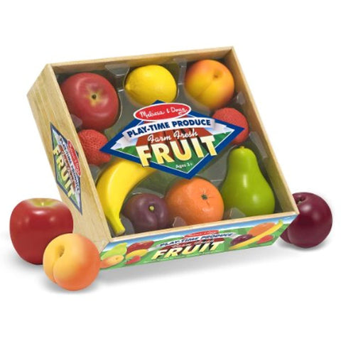 3 Item Bundle: Melissa and Doug 4082 Fruit and 4083 Vegetables Play Food + Free Activity Book