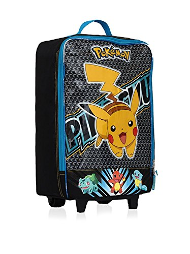 Pokemon Pikachu 16 Inch Pilot Case Wheel, Blue/Yellow