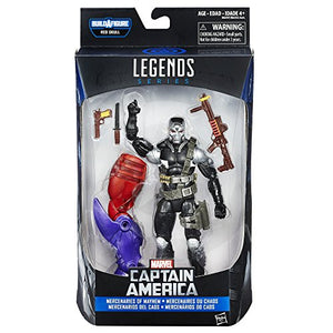 Marvel 6 Inch Legends Mercenaries of Mayhem Scourge Action Figure (Build Red Skull)