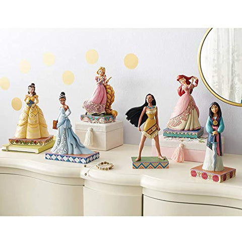 Enesco Disney Traditions by Jim Shore Princess Passion Pocahontas Figurine, 7.625 Inch, Multicolor