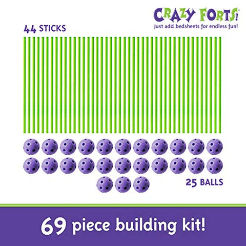 Image of Crazy Forts,Purple, 69 pieces
