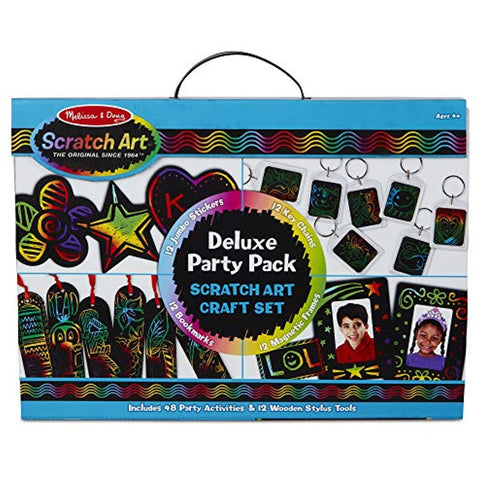 Melissa & Doug Scratch Art Deluxe Party Pack Craft Set