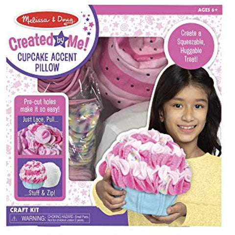 Melissa & Doug Accent Pillow Lacing Craft Kit - Cupcake