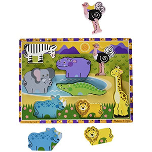 Melissa & Doug Safari Chunky Puzzle (Set of 3)