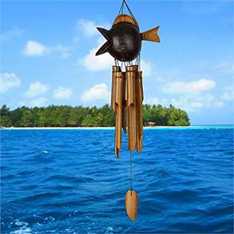 Image of Woodstock Chimes Coco Fish Bamboo Wind Chime
