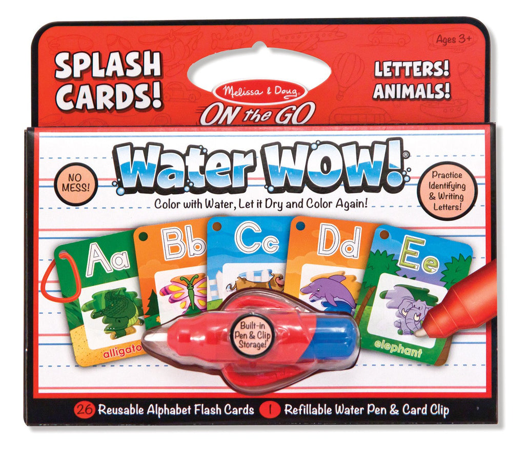 Melissa Doug Water Wow! Splash Cards Alphabet 5236