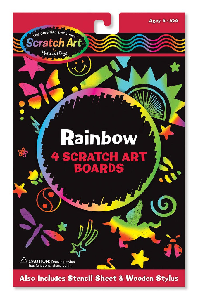 Melissa Doug Rainbow Scratch Art Boards